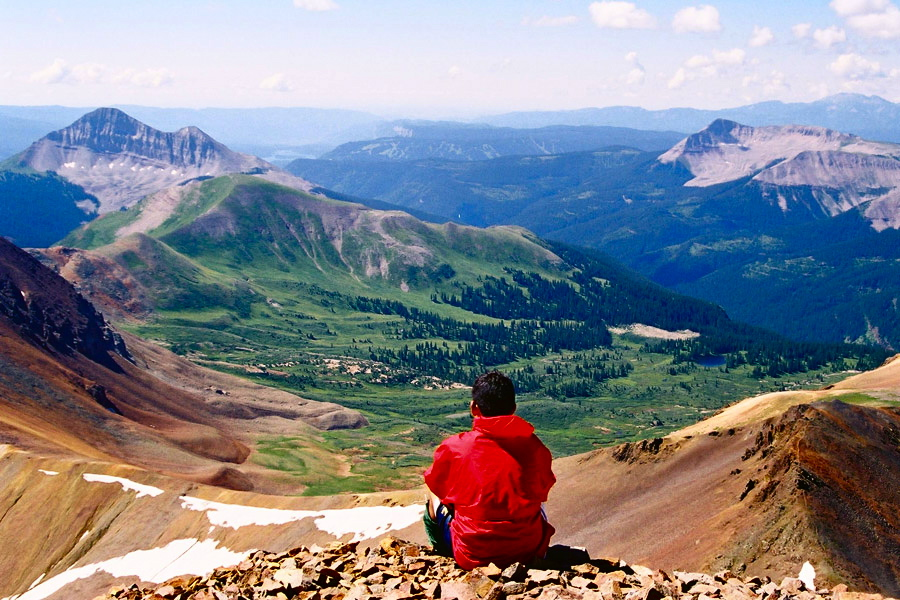 Participant looking out over the San Juan Mountains
