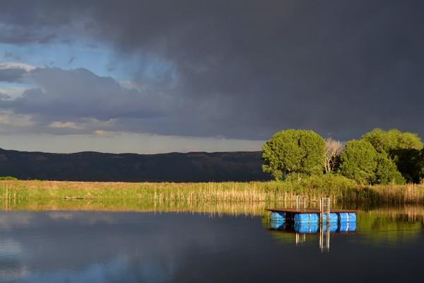 Pond storm