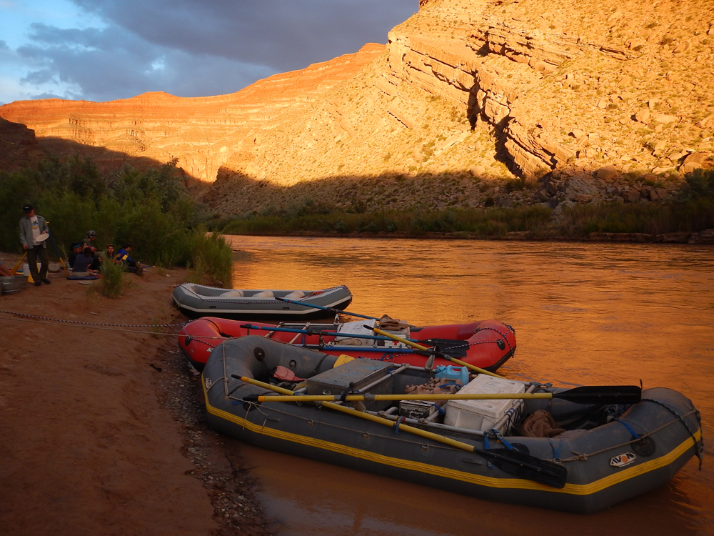 Sunsets are beautiful on the San Juan River