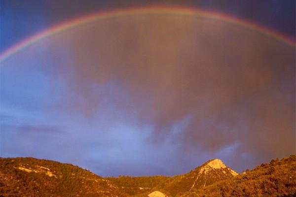 Rainbow over the hill