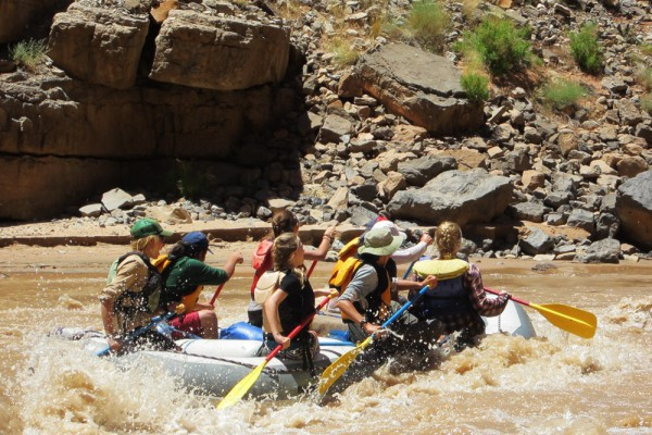 8th Graders rafting the San Juan