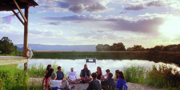 Group holding Circle at Basecamp