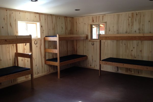 Bunk room in one of the participant cabins