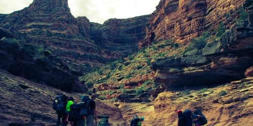 Canyon backpacking summer wilderness adventure for teens