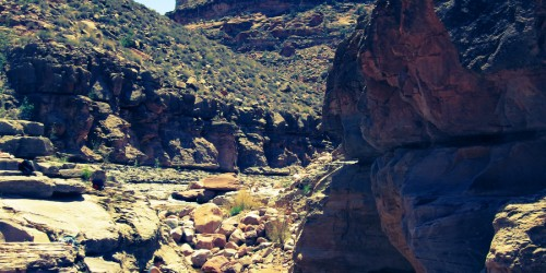 Swimming holes in pristine wilderness canyons - summer wilderness adventure