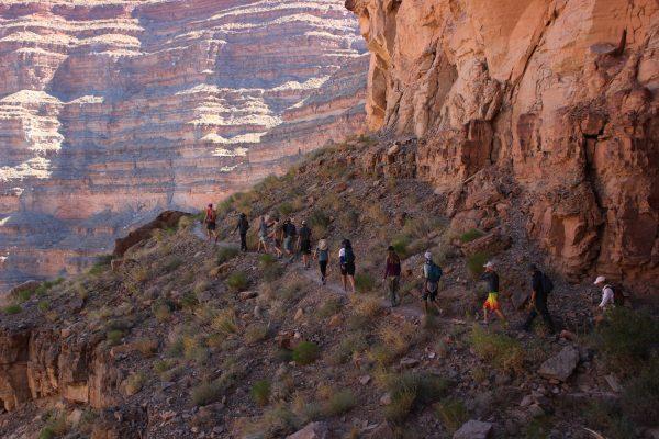 Side hike up the canyon wall