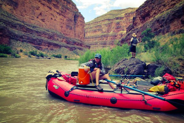 Stopping for lunch on the Lower San Juan River
