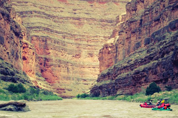 The high canyon walls of the Lower San Juan River