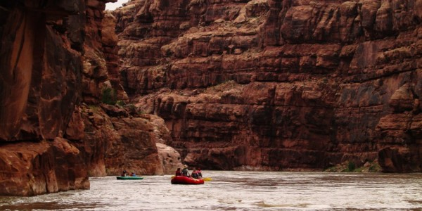 A flatwater section on the San Juan River
