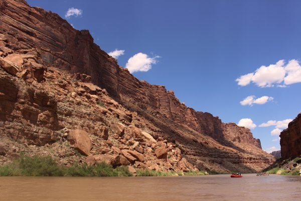 Sun and shadow on the canyon walls