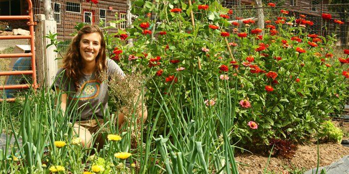 emily in garden