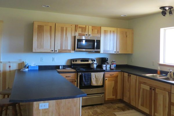 kitchen in Deer Hill's new guest building