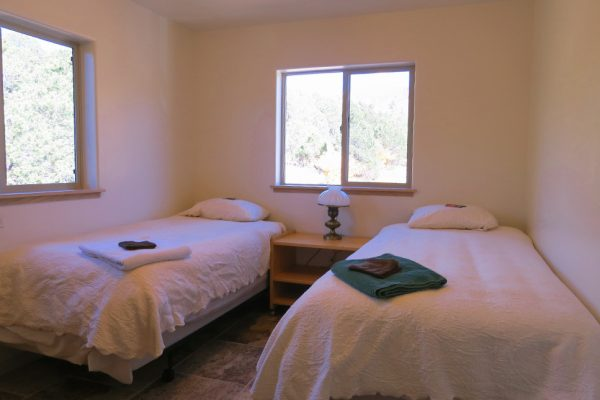 Accommodations at Deer Hill include bedrooms in the new guest building.