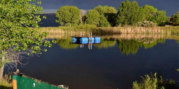 The pond at Deer Hill's Basecamp