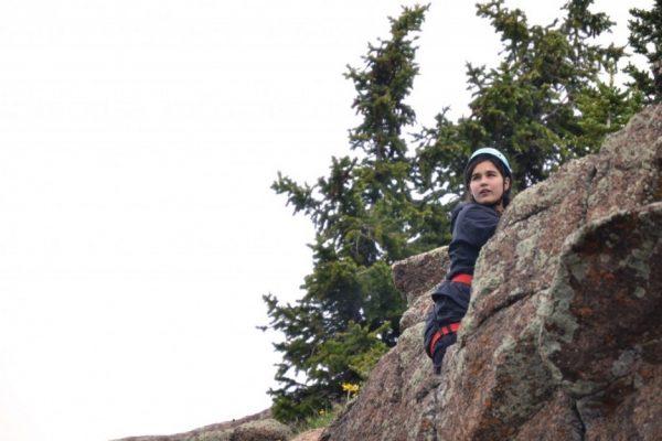 Wilderness adventure camp rock climbing in Colorado
