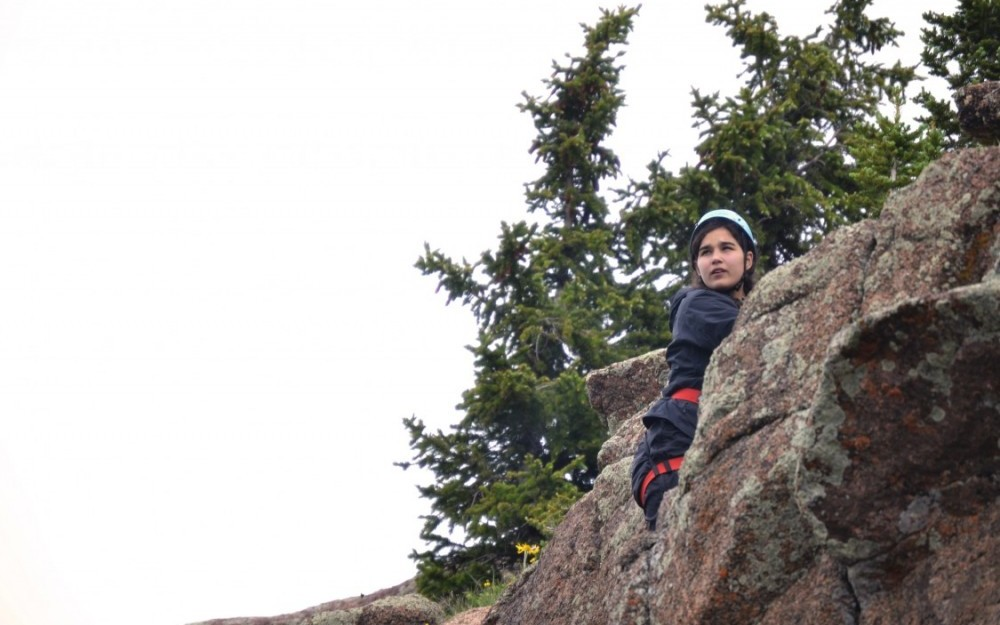 Wilderness adventure camp rock climbing in Colorado