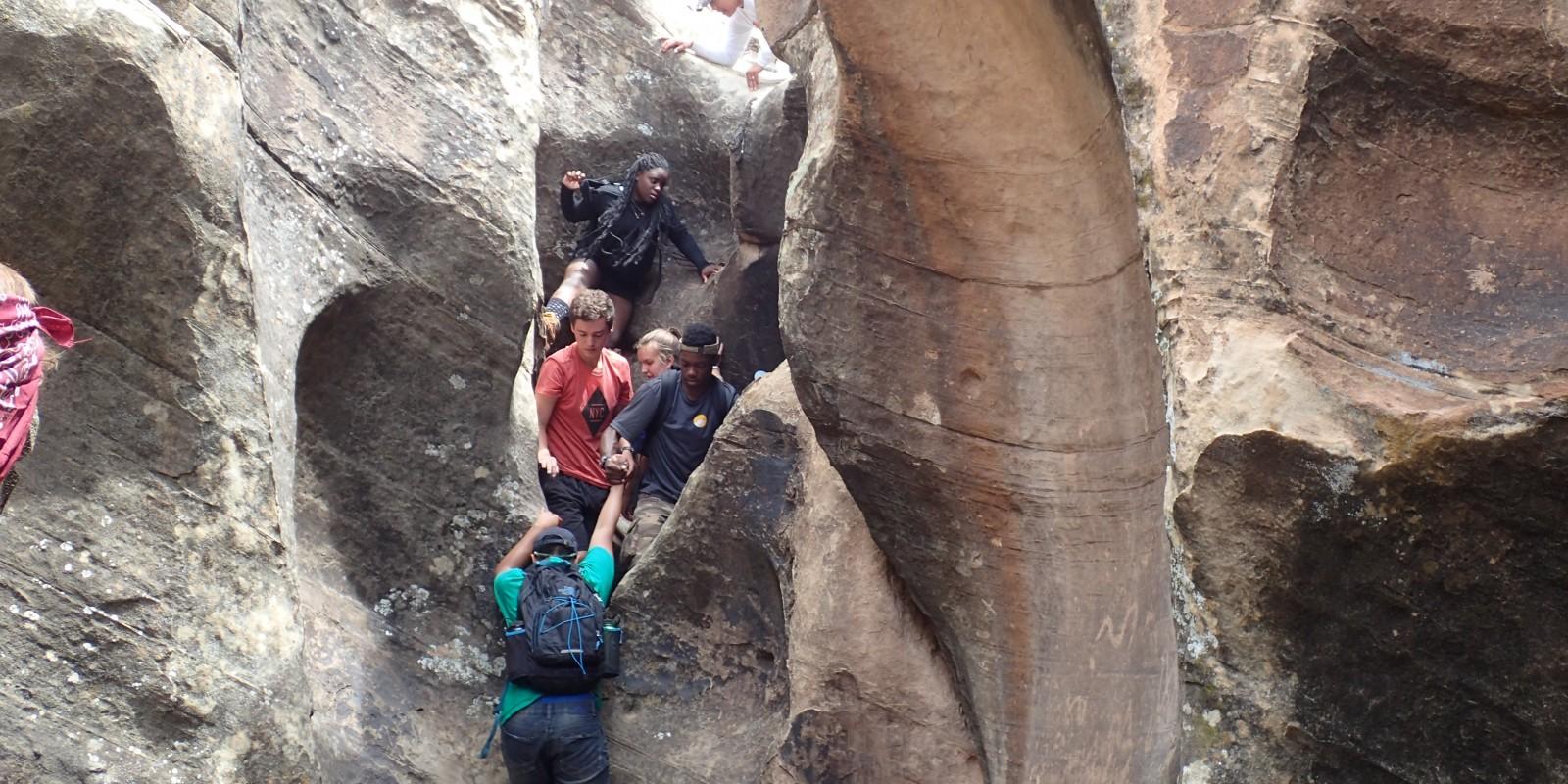 Ancestral Puebloan canyon hike